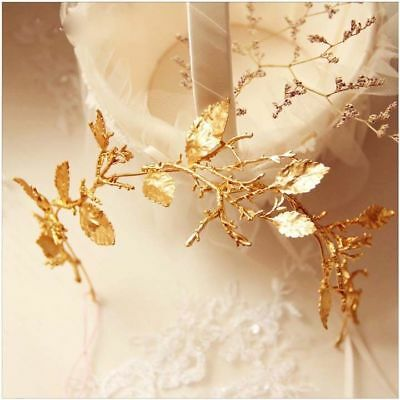 D9 Simple Style Golden Crown Hair Clasp Headwear Jewellery Accessories Y