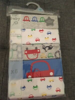 Pack of 5 bodysuits/vests boys