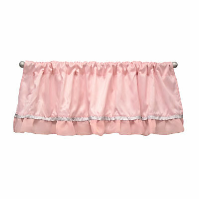 Arianna Window Pink Valance Curtain by The Peanut Shell