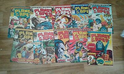 Marvel comics, PLANET OF THE APES,71-80,complete run,1976.