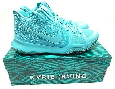 online store 1c3a1 5b921 New Nike Men s KYRIE III 3 Basketball Shoes Aqua Black 852395-401 Size 10