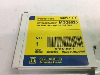 Square D Mg26925 1No Or 1Nc Auxiliary Contact  New
