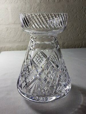 Harbridge Crystal cut glass hyacinth vase.
