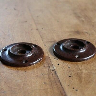 Pair of Replacement Bakelite backplates for Door knobs and Handles