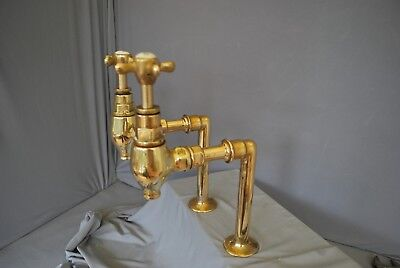 Brass Tall Bib  Taps Reclaimed Fully Refurbished, Stunning Kitchen Taps
