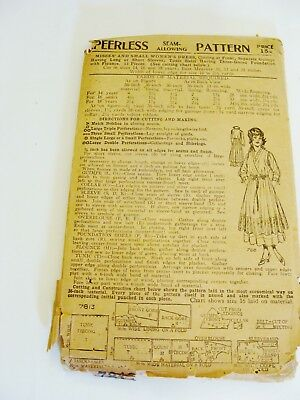 Antique  Peerless Misses and Small Woman Dress Pattern # 7813
