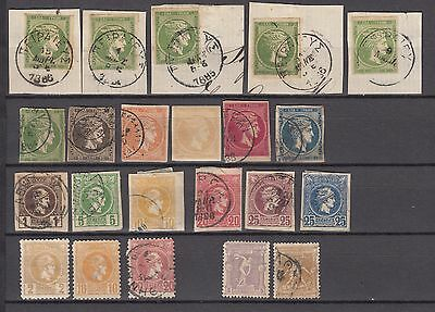 Greece 1870-1900 Very Nice lot of classic stamps. See scans
