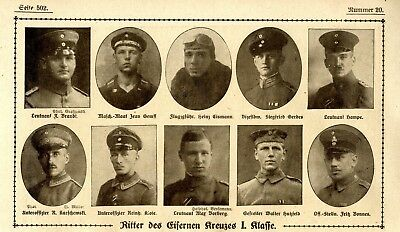 WW I Knights of the Iron Cross  German Hero Public Notice from: 1918.20