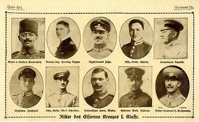 WW I Knights of the Iron Cross  German Hero Public Notice from: 1918.28
