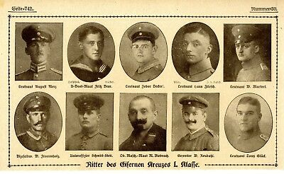 WW I Knights of the Iron Cross  German Hero Public Notice from: 1918.30