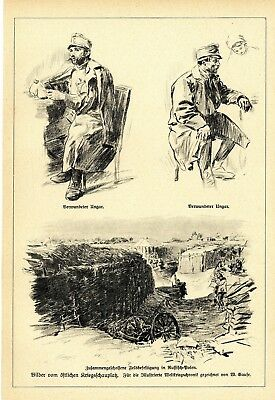 1914  * Drawings of a frontline soldiers of the Western Front II. * WW I