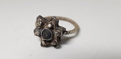 Medieval  Silver Ring  10th,12th century. AD