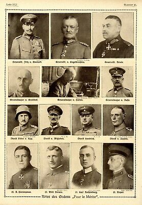 WW I Knights of the Pour le Mérite German Hero Public Notice from: 1918.41