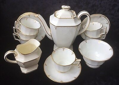 Antique George Jones & Sons (Crescent China) Coffee Set