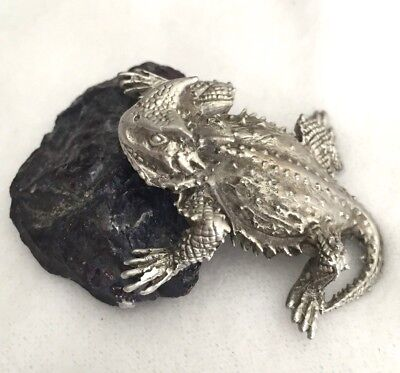 Horned Lizard Replica - Pewter Horny Toad Figurine