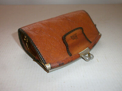 Antique  Vintage  Purse , Wallet from  Leather and Bronze - Germany - № 2