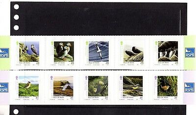 ISLE of MAN,2006 the two RSPB BIRD self adhesive strips