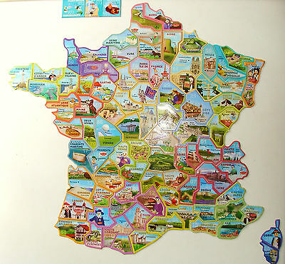 Magnets Le Gaulois Carte De France Neufs Nombreux Modeles Differents