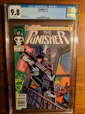 The Punisher #1 CGC 9.8 White Pages (Jul 1987, Marvel)