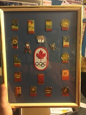 Lot Of 3 Framed Coca Cola Olympic Pin Sets