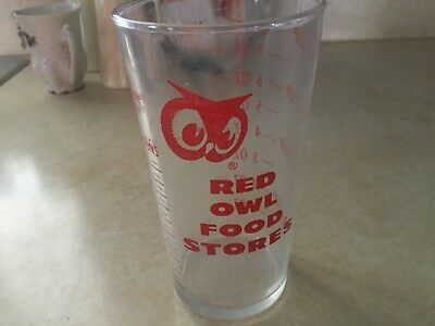 Red Owl Food Stores Full Measure Of Quality Glass