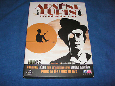 ARSENE LUPIN Grand Séducteur VOLUME 2  G. DESCRIERES / 8 EPISODES COFFRET 3 DVD
