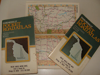 Rand McNally Pocket Road Atlas United States Canada Mexico 1977