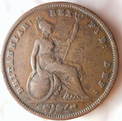 1831 GREAT BRITAIN PENNY - High Quality Rare Date - Excellent Coin - LOT #F17