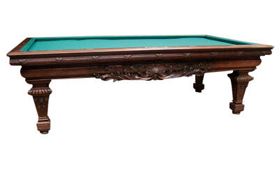 Beautifully Carved Antique French Regency Billiard Table, Walnut, 19th Century