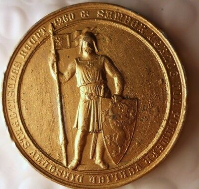 1860 POLAND (DIRSCHAU) MEDAL - 600 Years of Cityhood - AWESOME MEDAL - Lot #F17