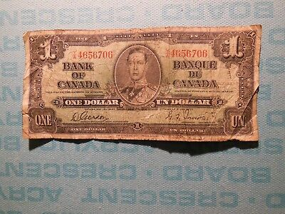 Bank of Canada, 1937, one dollar banknote, circulated