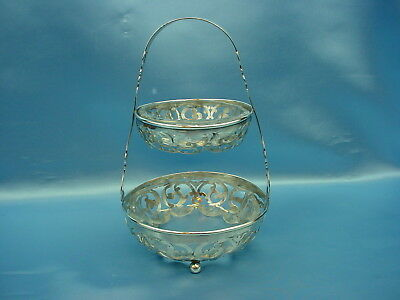"""Sterling(136g) Frame - 2 Tier Candy/Nut Dish """"Made for Tiffany & Co."""""""