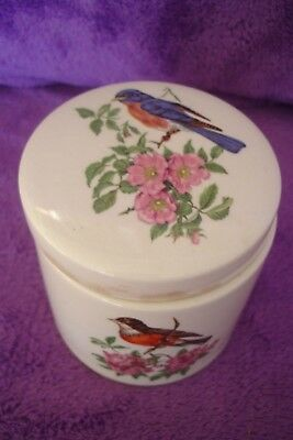 Vintage Sandland Ware  Oxford Marmalade Pot With Birds