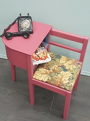 Fabulous Vintage Phone / Reading Table