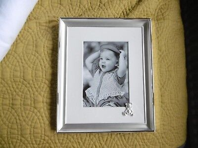 Bnib Silver Plated Christening Photo Frame