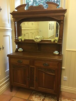 Reduced Antique Victorian sideboard with mirror