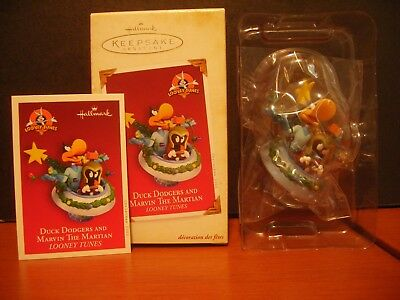 2005 Hallmark Christmas Ornament Looney Tune Duck Dodgers And Marvin The Martian