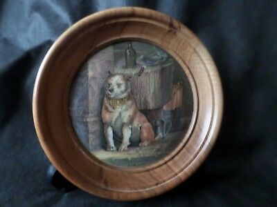 "Rare Victorian Pratt Pot Lid ""low Life"" From A Painting By Landseer"