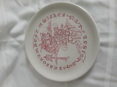 1952 Buffalo Pottery Christmas Plate