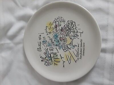 1954 Buffalo Pottery Christmas Plate Dickens Mr Fezziwig's Ball