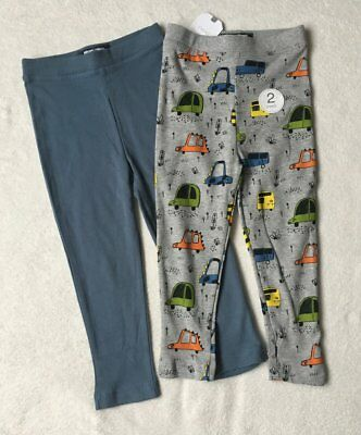 ***BNWT Next baby boys Cars/Blue leggings joggers 2 pack set 9-12 months***