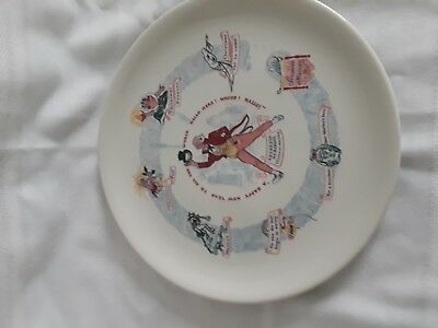 1953 Buffalo Pottery Christmas Plate Dicken's Scrooge Christmas Morning