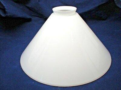 "Vintage White Milk Glass Lamp Shade Lampshade Large Cone Torchiere 2 1/4"" Fitter"