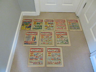 WHOOPEE COMICS x 10- No's 21-30-Consecutive,good condition/Beano,Whizzer & Chips