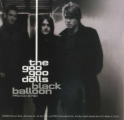 GOO GOO DOLLS Black Balloon (Radio Remix) (1999 U.S. Promo CD Single w/Inserts)