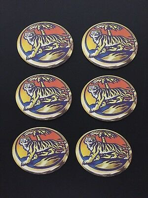 Tiger Beer Set of 6 x Beer Coasters New Never Used
