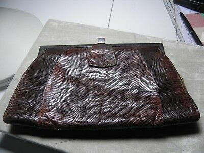 Vintage ORTELLA Lizard Skin Clutch Bag 1920s