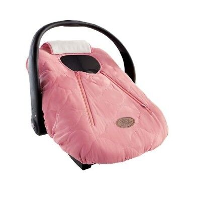 Baby Car Seat Cover (Pink Quilt) Warm Soft and Cozy Infant Carrier Cover