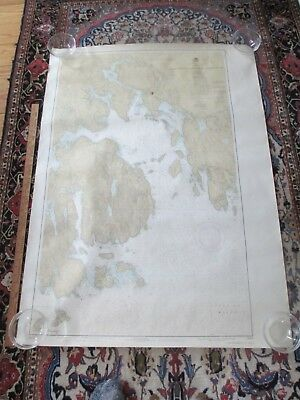 "20 Vintage USOA Nautical Sailing Maps Charts 36x48"" Maine MA NY 1940s-1970s"
