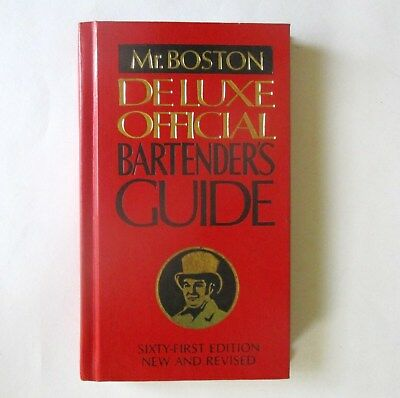 """Mr. Boston Deluxe Official Bartender's Guide, Hard Cover Book.  7 1/2"""" x 4 1/2""""."""